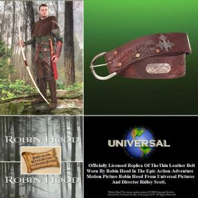 Robin Hood Wide Leather Belt - Officially Licenced
